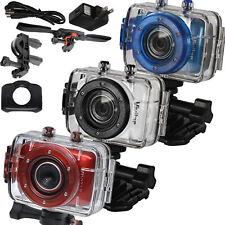 Vivitar DVR783 HD 720p 5MP Waterproof Action Camera camcorder Blue, Silver, Red