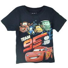 Disney Cars 2 Movie Animation Team 95 Boys Tshirt Tee Navy Pit Crew McQueen