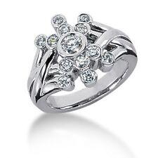 0.86Ct Women's Round Cut Diamond Right Hand Band Ring 14kt White Gold