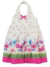 b73c502fbfa Blueberi Infant Baby Girls White Pink Butterfly Halter Sundress Sun Dress