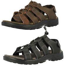 Uomo Northwest KENIA nero o marrone pelle sandali casual