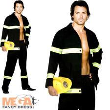 Fireman Mens Uniform Fancy Dress Adult Sexy Fire Man Fighter Costume Outfit New