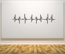 Heart Beat Heart Rate Pulse EKG ECG - Wall Door Art Decal Sticker Picture Poster
