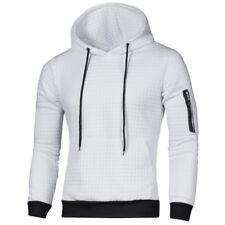 Mens Plain Hooded Hoodie Sweatshirt Jacket Casual Gym Sport Tops Pullover Jumper