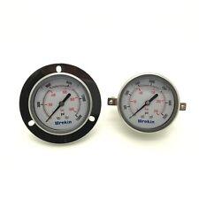 Calibrador de presión 63 mm Dial Back Conexión Con Soporte Hidráulico neumático * GC63