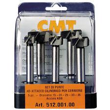 Set di 5 punte CMT ad attacco cilindrico per cerniere Cod.: 512.001.00
