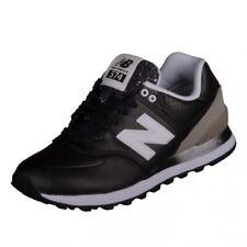 New Balance 574 Classic Runner Laufschuhe Sneaker shiny black/grey WL574RAA