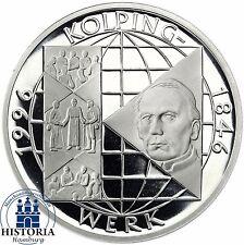 BRD 10 DM 150 Jahre Kolpings Werk 1995 Silber Spiegelglanz Münze in Münzkapsel