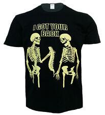 I GOT YOUR BACK T Shirt,Biker/Funny/Rock/Halloween/Goth/Skeleton/Bone/Top/Tee