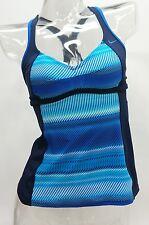 Nike Blue Striped Racerback Tankini Top Swimwear Women's Small,Medium #KO15060