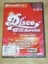 DVD KARAOKE / DISCO WILL SURVIVE VOL 2 / 10 TUBES / NEUF SOUS CELLO