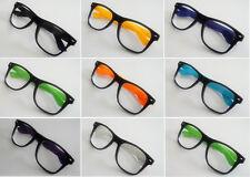 Unisex diseñador Negro Geek Nerd marco Gafas Decoración Regalo Accesorios Disfraces