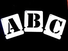 ALPHABET STENCIL SET LETTER STENCILS UPPER A-Z & 0-9 Stencil Font /Army Free &