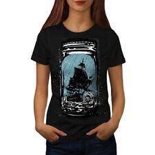 Pirate Ship Jam Jar Women T-shirt S-2XL NEW | Wellcoda