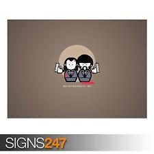 Pulp Fiction dibujos animados (AD464) Gracioso Poster-Foto arte cartel impresión * Todos los Tamaños