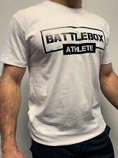 BattleBox Athlete WOD Training Top Short Sleeve T-shirt White CrossFit Fitness