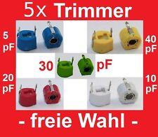 5x Keramik Trimmer Kondensatoren -Sortiment Auswahl: 5 20 40 pF Trimmkondensator