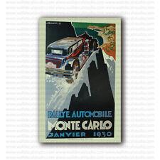 Rallye Monte Carlo 1930 by Falcucci Vintage Racing Repro Poster