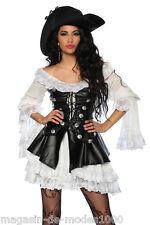 Sexy carnaval/carnaval disfraz de pirata revestimiento de alta calidad, 100% reclamo