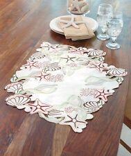 Coastal Nautical Seashell Starfish Cutout Dinning Table Placemat Set Decor
