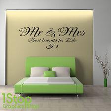 MR & MRS MEILLEURS AMI FORLIFE CITATION AUTOCOLLANT MURAL CHAMBRE