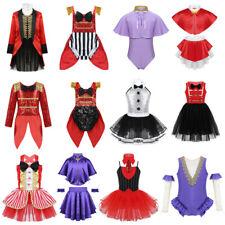 Girls Ringmaster Fancy Dress Kid Circus Princess Cosplay Costume Halloween Party
