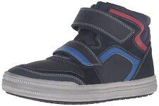 Geox Boys J Elvis H Navy Royal Hi-Top Casual Sneaker Shoe