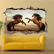 Hermoso caballos salvajes 3D Pegatinas De Pared Decoración Tienda De Oficina Sala de Arte de Mural VS5