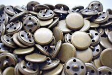 M216 FLAT Metal Italian Buttons 10-18-20mm- ANTIQUE BRASS Sewing Jacket Coat