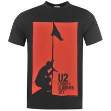 MENS OFFICIAL T SHIRT TEE SHIRT SHORT SLEEVE U2 MUSIC LOGO BLACK