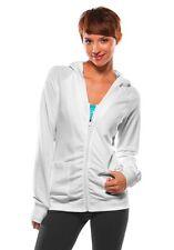 Womens Oakley Swifty Fleece Hoodie Silver Streak Grey White Size Medium XL