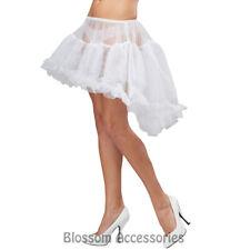 CA37 White Hi Low Pettiskirt Petticoat Slips Crinolines Adult Costume Accessory