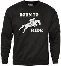 Born to Ride-Horse Rider Equitazione Giovanile & Da Uomo Felpa