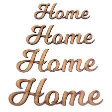 Palabra hogar Artesanía forma, varios tamaños, 2mm Madera Mdf. letras, secuencia de comandos se unió a Up