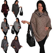 colletto poncho maglione cardigan maglia scialle bolero giacca frange autunno