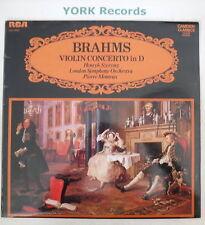 CCV 5052 - BRAHMS - Violin Concerto In D - Ex LP Record