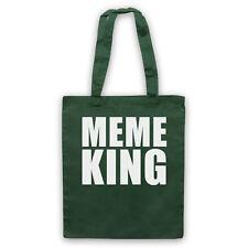 MEME KING MEME FUNNY JOKE COMEDY INTERNET LOVER SHOULDER TOTE SHOP BAG