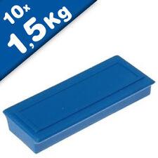 Iman plastificado de Ferrita 53 x 23 x 9mm, zona de etiqueta - 10 piezas