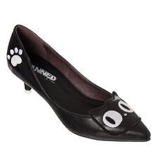 Banned Rockabilly geschlossene Pumps Schuhe - Heart Of Gold Katze Cats
