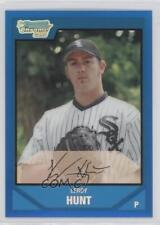 2007 Bowman Draft Picks & Prospects Chrome Blue Refractor BDPP43 Leroy Hunt Card