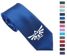 """Zelda Force Logo Men Woven Skinny 2.5"""" Party Tie Necktie K61"""