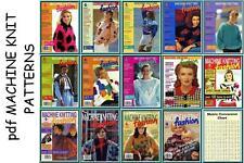 Machine Knitting Fashion issues 1-14 Pattern Books on CD ***