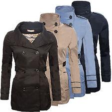 Designer Damen Jacke Übergangsjacke Trenchcoat Mantel Damenmantel D-78 S-XXL