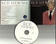 ROD STEWART & STEVIE WONDER What a Wonderful World PROMO DJ CD single w/ MP3