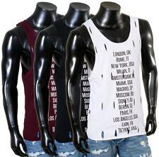 Redbridge Herren Party Sommer Tank top Shirt ärmellos mit Löcher destroyed Optik