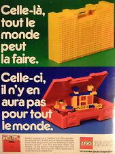 PUBLICITÉ LEGO BASIC JOUET CELLE-CI IL N'Y EN AURA PAS POUR TOUT LE MONDE