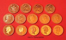 Stordimento prova due pence (DP) monete tutte le monete sono da kit di prova