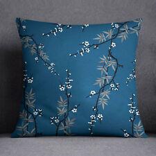 S4Sassy Teal bleu foncé taie d'oreiller arbre imprimé housse de coussin carré