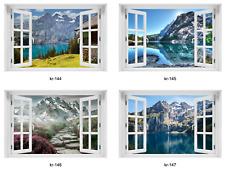 3D WANDBILD FOTOTAPETE FENSTERBLICK Natur Landschaft Wald Wasser VLIES oder PVC