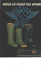 PUBLICITE ADVERTISING 1981 AIGLE  bottes  caoutchouc
